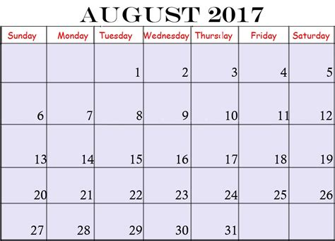 free printable calendar with pictures free printable 2017 calendars august 2017 calendar printable