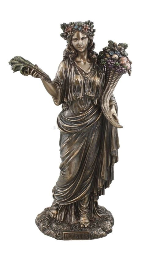 God Statue demeter greek goddess of harvest bust figurine statue
