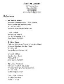 resume reference page format sample - Reference Page Format Resume