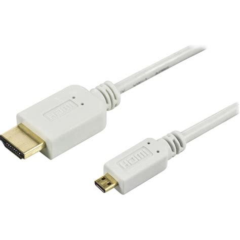 Kabel Hdmi 2m V1 4 deltaco hdmi kabel micro v1 4 vit 2m
