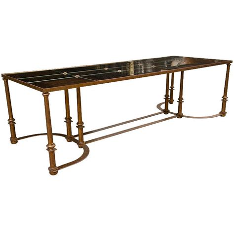 Coffee Table With Metal Base Coffee Table With Bow Metal Base For Sale At 1stdibs
