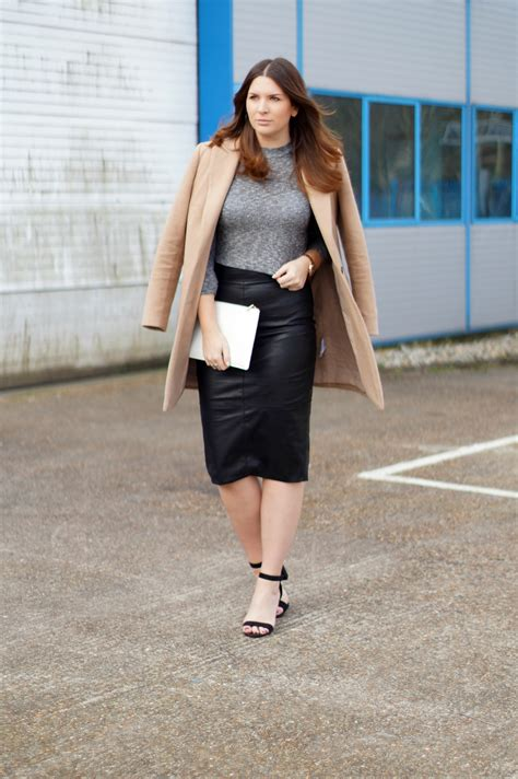 style how to wear a leather skirt katherine louise