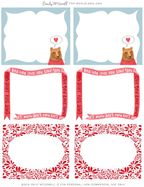 valentines day labels by emily mcdowell worldlabel blog