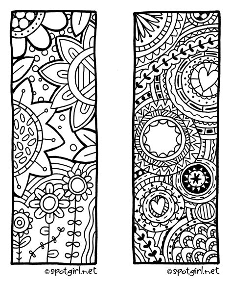 painting and colouring free 8 best images of free zentangle printable bookmarks to