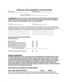 surgery consent form template 34 consent forms in doc