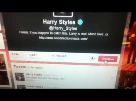 bio harry styles twitter larry stylinson harry styles changes twitter bio youtube
