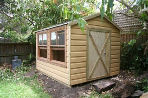 Weather Shed by Timber Sheds Cubbyhouses Window Awnings Federation