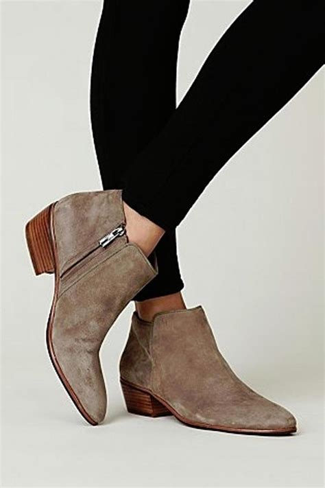 sam edelman taupe ankle bootie from island by
