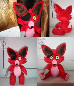 Foxy from fnaf plush by sunflowertiger