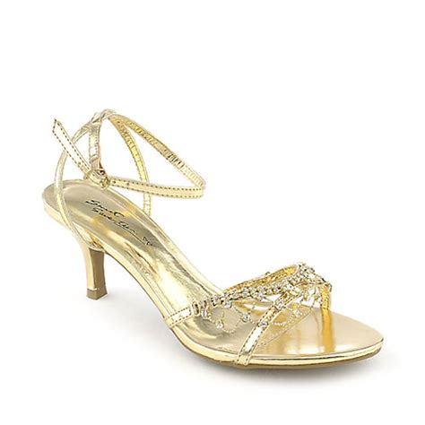 gold dress shoes sweet seventeen janne 08 gold low heel evening dress shoe