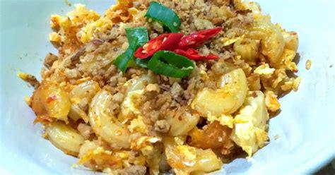 resep macaroni telur enak  sederhana cookpad
