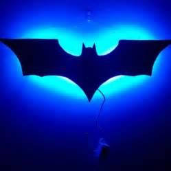 Wall decor multicolor led batman superhero symbol light handmade