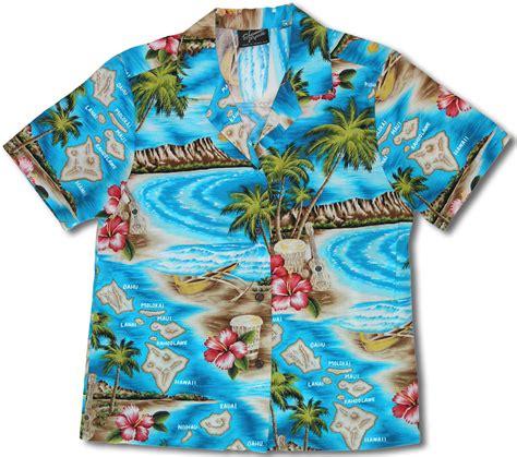 hawaiian shirt hibiscus hawaiian islands s shannon 100 cotton hawaiian shirt