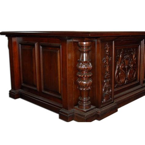Mahogany Desks For Sale by Beautiful 19th C Carved Mahogany Executive Desk For Sale