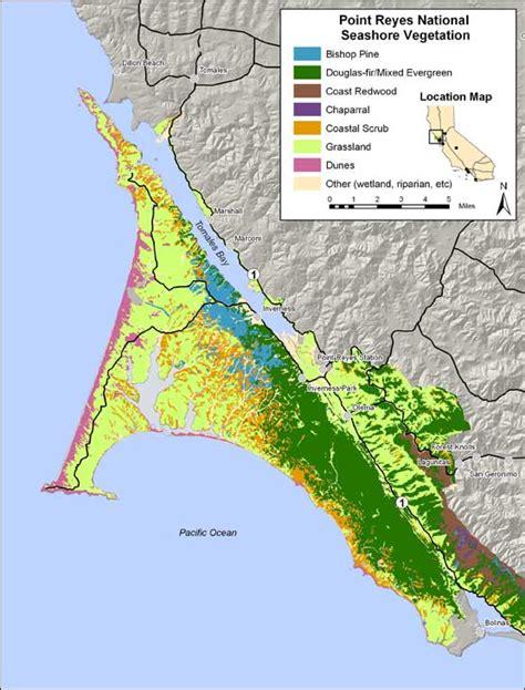 point reyes national seashore map ecology vegetation types vegetation map point