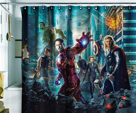 avengers drapes shower curtain avengers need or just want pinterest