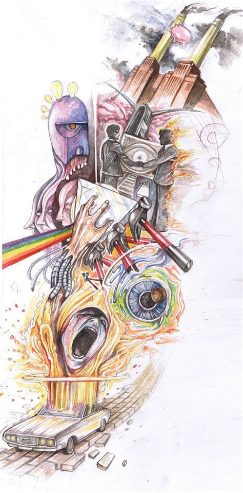 pink floyd the wall tattoo designs the epic pink floyd by crazieburd on deviantart