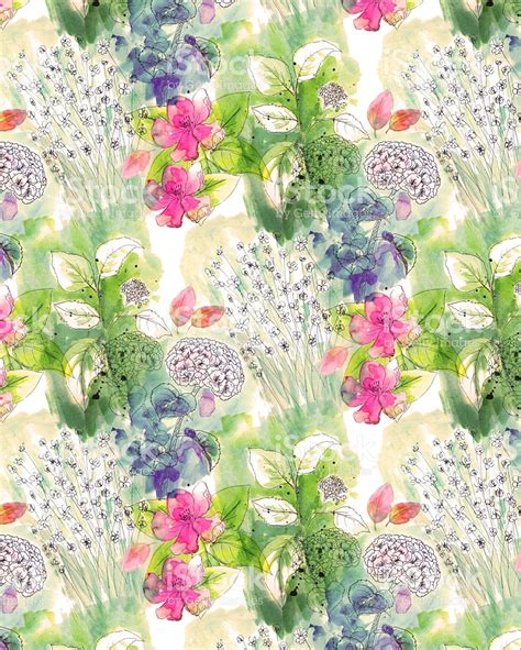 watercolor pattern for illustrator watercolor floral background pattern stock vector art