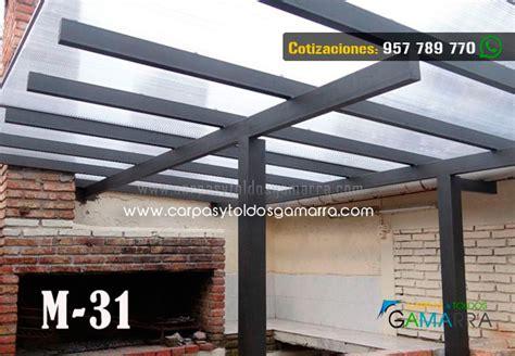 cocheras techadas con policarbonato carpas y toldos gamarra