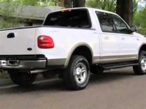 used 2001 ford f 150 supercrew crew cab lariat truck for