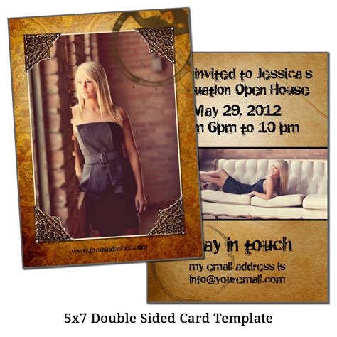 5x7 double sided card template framed future by