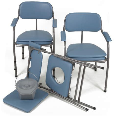 chaise toilettes pliante omega h407 bleue invacare