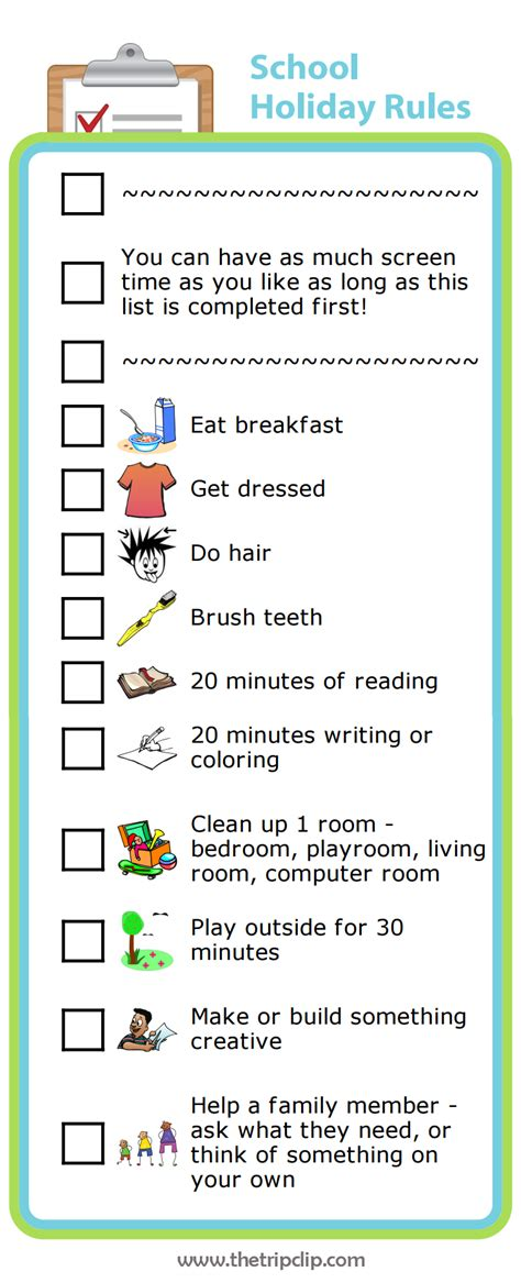 printable house rules list week 44 learning balance with screen time rules the