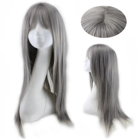 salt and pepper long hair wig long salt and pepper wigs harajuku fashion grey wigs woemn