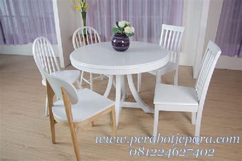 Set Kursi Makan Meja Makan Bundar Kursi Cafe Kursi Teras jual set meja makan minimalis modern perabot jepara