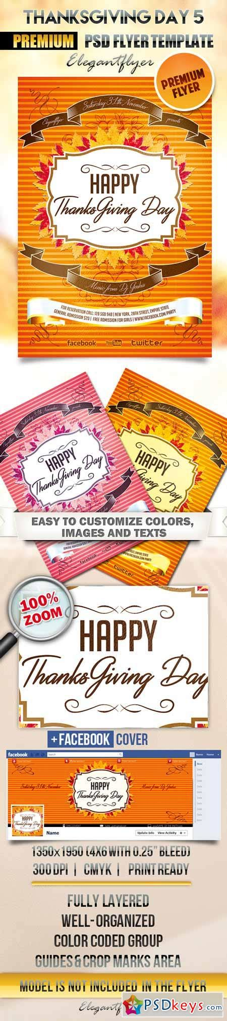 thanksgiving card template psd thanksgiving day 5 flyer psd template cover