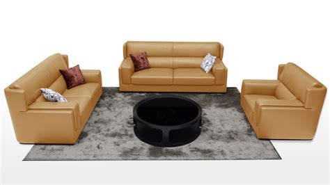 Butterscotch Leather Sofa Destin 3 Butterscotch Leather Sofa Set With Armchair Zuri Furniture