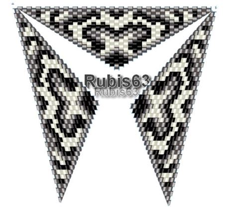 triangle loom pattern 1911 best beaded triangles images on pinterest beadwork