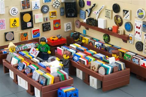 Here Is a Tiny Record Store Made from Legos, You?re Welcome   SPIN