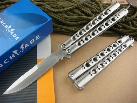 bench made 42 bench made 42 bm42 balisong knife titanium butterfly knife plain bm43 440c weehawk