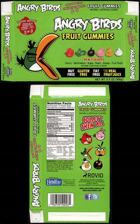 healthy food brands angry birds fruit gummies second edition collectingcandy