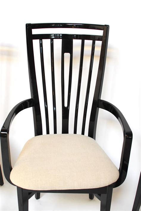 italian black lacquer dining chairs at 1stdibs italian black lacquer dining chairs for sale at 1stdibs