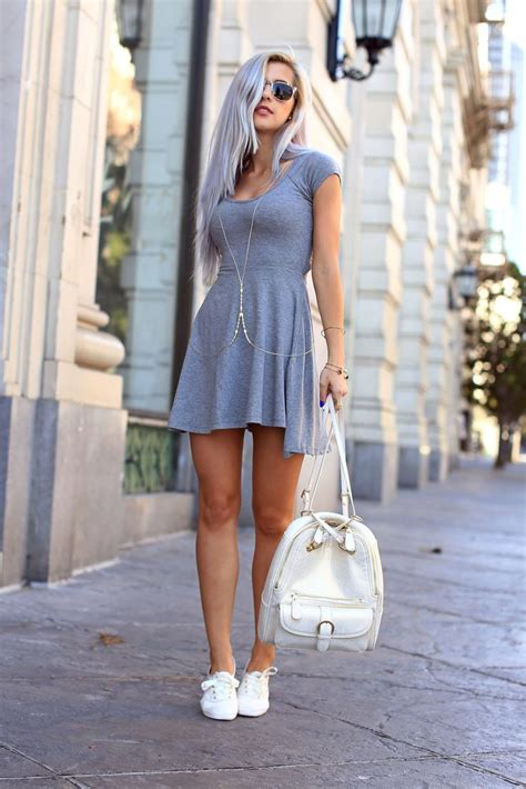 dress sneaker 10 ways to wear sneakers with a dress 2018 become chic
