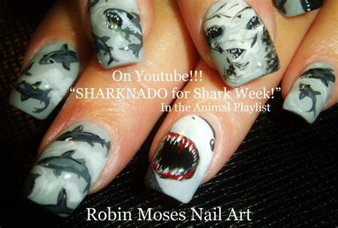 nail art tutorial robin moses sharknado nail art design tutorial robin moses nail art
