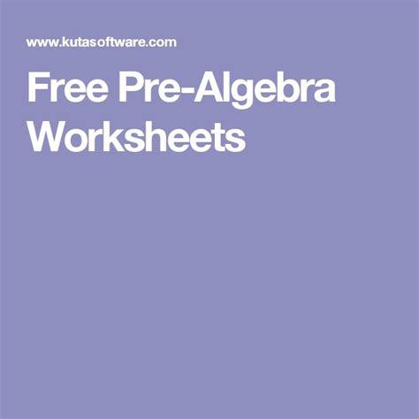 Free Pre Algebra Worksheets by Best 25 Algebra Worksheets Ideas On Algebra