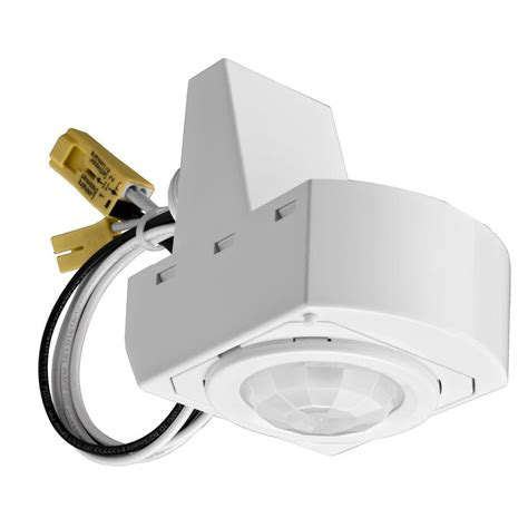 Light Fixture Motion Sensor Lithonia Lighting 360 Degree Mounted White Motion Sensor Fixture Msx12 The Home Depot