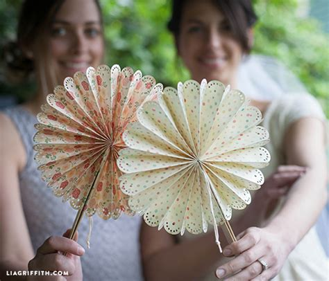 How To Make A Paper Fan For Weddings - diy paper fans for your wedding or summer event