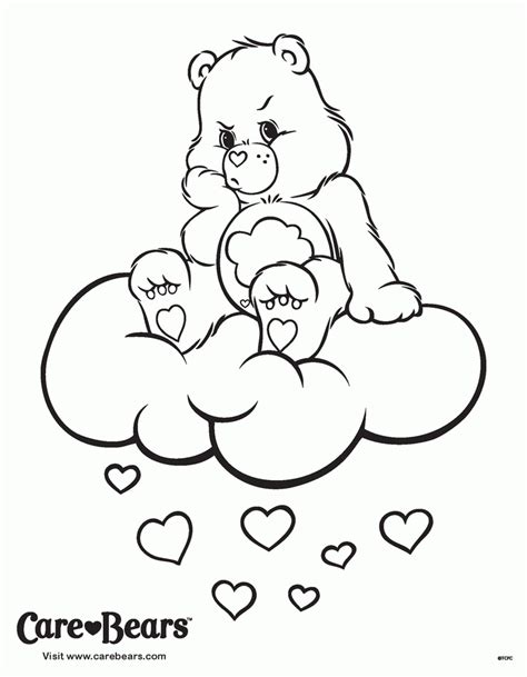 care bear coloring pages free care bear printables coloring home
