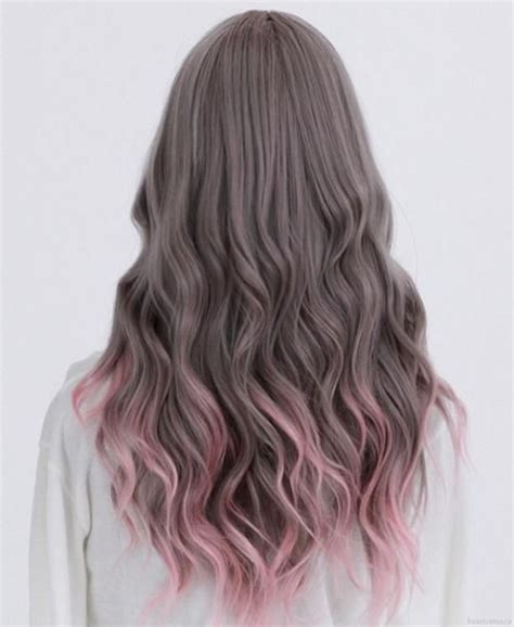 dyed hairstyles for brunettes dip dye image 1622260 by aaron s on favim com