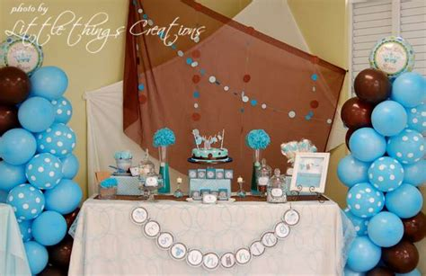 Brown And Baby Blue Baby Shower Decorations by Brown And Blue Baby Shower Ideas Babywiseguides