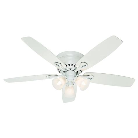 hunter oakhurst white ceiling fan hunter oakhurst 52 in indoor flushmount white ceiling fan