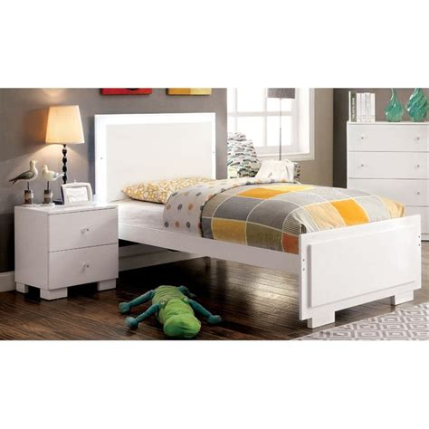furniture of america hallowell 2 led bedroom