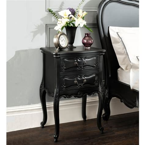 la rochelle black antique french bedside french style