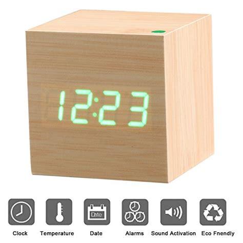 sveglia digitale da comodino sveglia in legno sveglia digitale da comodino shop24ore