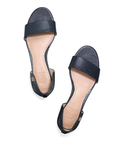 navy blue flat dress sandals burch flat sandal in blue lyst