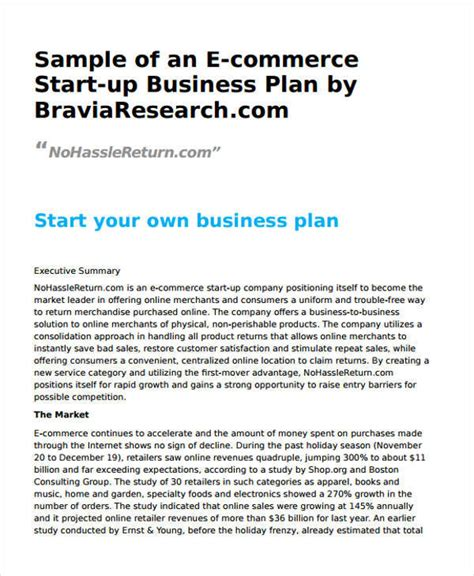 27 business plan templates